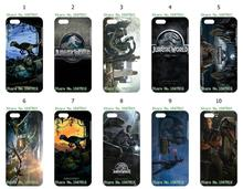 Mobile Phone Case Wholesale 10pcs/lot Jurassic world Movie Protective White Hard Case Cover For Iphone 5C Free Shipping