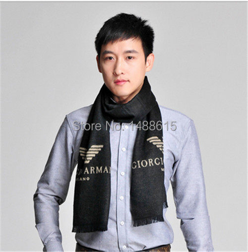 Europe and America 2015 new alphabet warm autumn and winter scarf men cashmere men's scarf thick burr free shipping(China (Mainland))