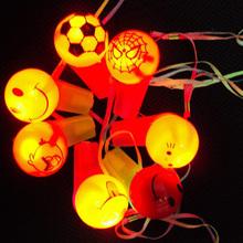 Light up Flashing Whistle Necklace Lanyard Cheering Rave Party Toy Hallowmas(China (Mainland))