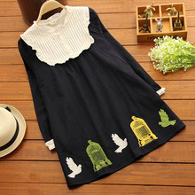 2016 Spring New Housewife Style Cute Collar Pregancy Women Tees Fashion Maternity T-shirts Clothes 1070(China (Mainland))