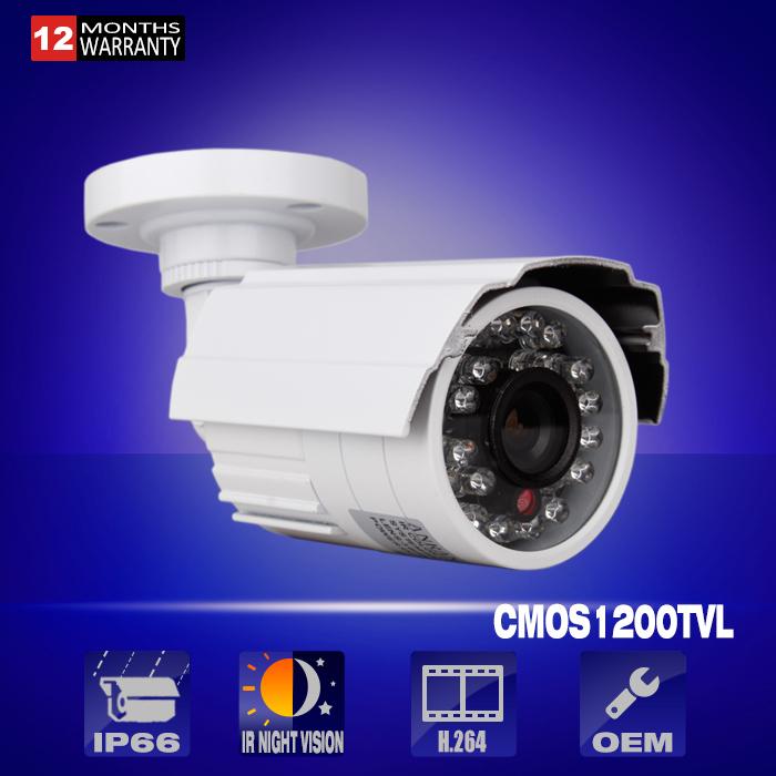 1200TVL CCTV Camera With OSD 1/2.5' COMS Sensor HD Outdoor Bullet Waterproof IR-CUT 24 IR leds mini Surveillance Security Camera(China (Mainland))