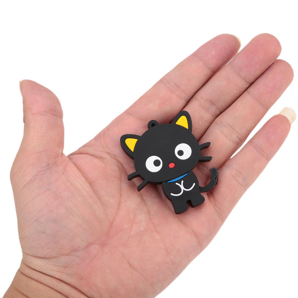 Cartoon Animal Flat Cat Style 4GB 8GB 16GB 32GB USB 2.0 Flash Drive Pen Drive Pendrive USB Stick Memory Flash Card with Keyhole(China (Mainland))