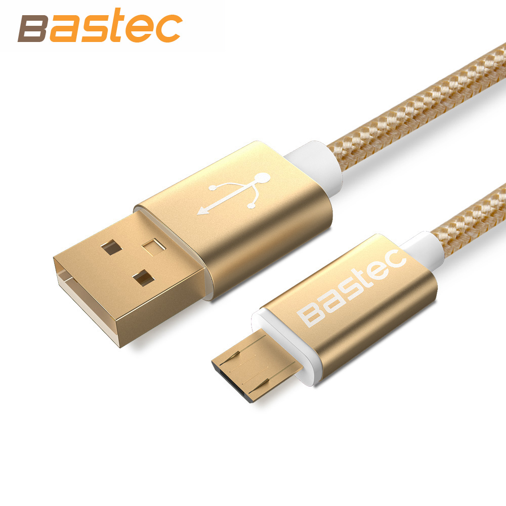 Bastec Colorful Fashion Nylon Line and gold-plated head Micro USB Cable For Samsung galaxy S6 S5 Sony HTC Smartphones HTC(China (Mainland))