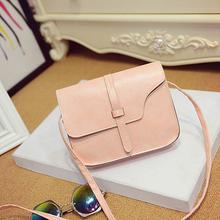 Delicate Hot ! 2015 Women Girl Mini Shoulder Bag Solid Faux Leather Satchel Crossbody Handbag nor5819 dcuxi