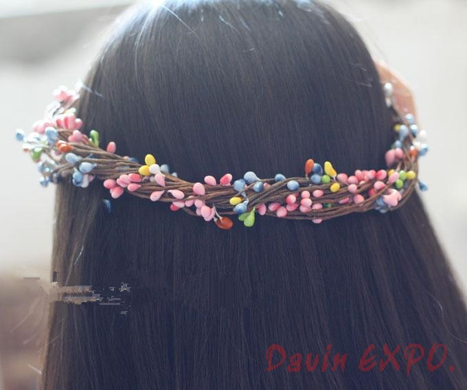 New 50PCS High Quality Artificial Wreath Flower Small Berry Rattan Pip Garland For DIY Party Wedding Banquet Decoration