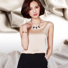 Womens Summer Silk Tank Tops Slim Sexy Fitness Bustier Crop Top Sleeveless  O Neck  Debardeur T Shirt Vest Tops2016 Summer Women(China (Mainland))