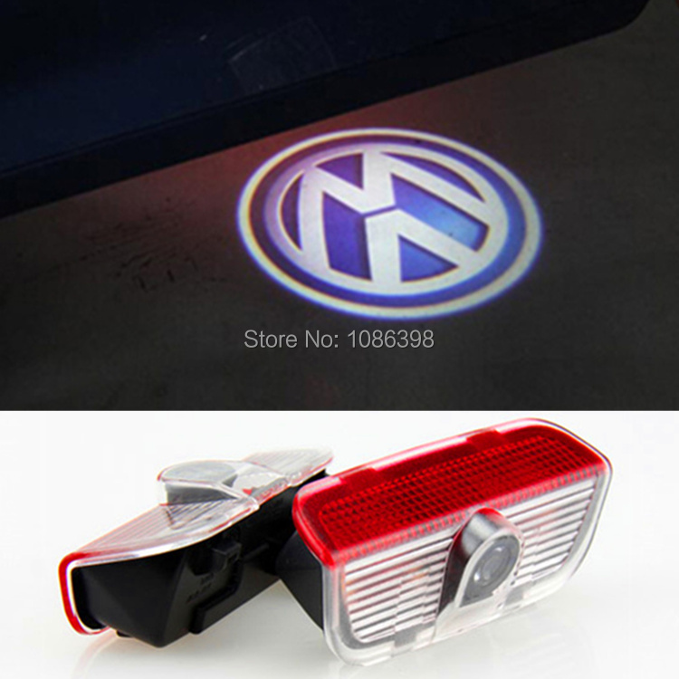 LED Door Warning Light With VW Logo Projector For VW Golf 5 6 7 Jetta MK5 MK6 MK7 CC Tiguan Passat B6 B7 Scirocco With Harness(China (Mainland))