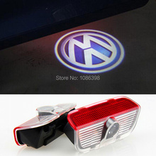 LED Door Warning Light With VW Logo Projector For VW Golf Jetta MK5 MK6 CC Tiguan Passat B6 Scirocco With Harness
