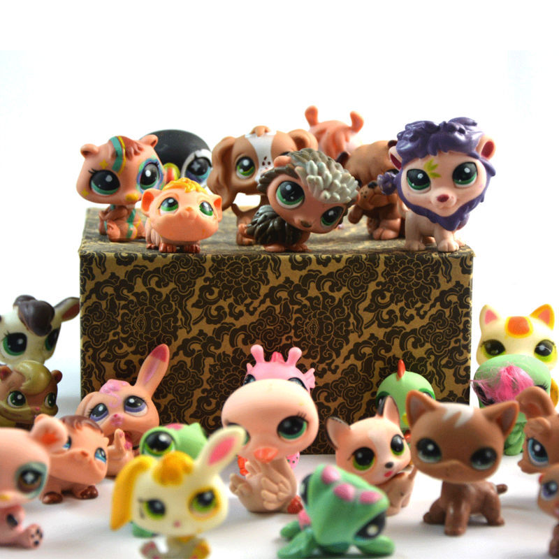 Littlest Pet Shop 30pcs Anime Cute Animals Q Pet Shop 2 inch Action Figure Collection Toys Scale Models Brinquedos For Children(China (Mainland))