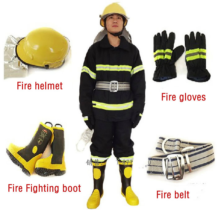how to wear fire fighting suit