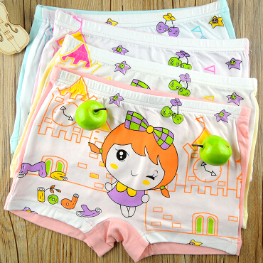 Girls Underwear 2015 New Children Briefs Girls Panties Children Girls Boxer Kids Short Brief Girls Underwear(China (Mainland))