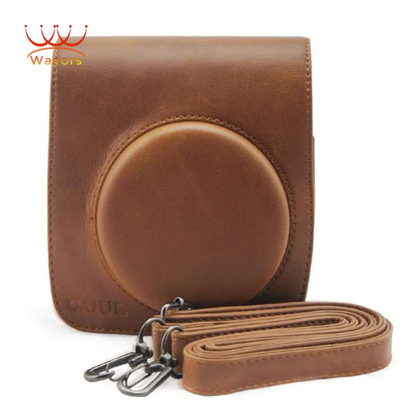 SHENSEE Luxury Brand PU Leather Camera Bag Case Holder For Fuji FUJIFILM Instax Mini 90 Camera Accessory(China (Mainland))