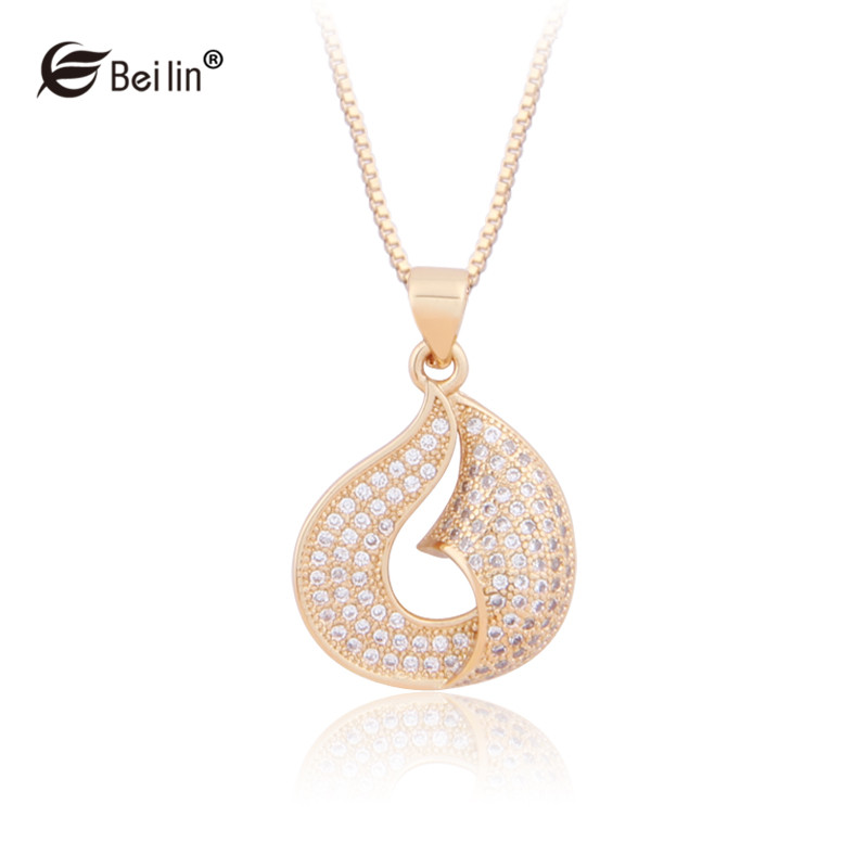 Calla Lily Flower Jewelry 18K Gold And Platinum Plated Cubic Zirconia Diamond Pendant Necklace For Women Collares (ALZ1503032)(China (Mainland))