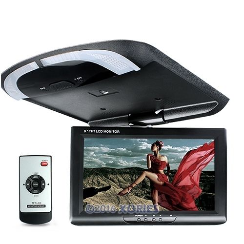 """9"""" In-car Overhead Ceiling Roof Mount Monitor For DVD Display LCD Wide Screen(China (Mainland))"""