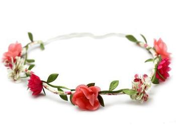 Banquet The Bride Hair Accessory Halo Flower Wreath Hair Bands Wedding Decoration Favours Headband Wholesale HT0002