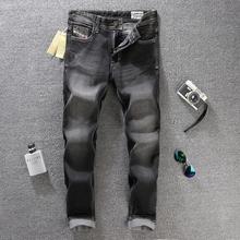2016 New Fashion Designer Mens Jeans Black Color Printed Jeans For Men Brand Straight Robin Jeans Cotton,Wholesale