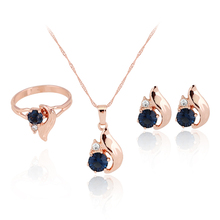 18K Gold Plated Rhinestone Crystal William Kate Queen Crystal Bridal Wedding Jewelry Sets Jewelry For Women