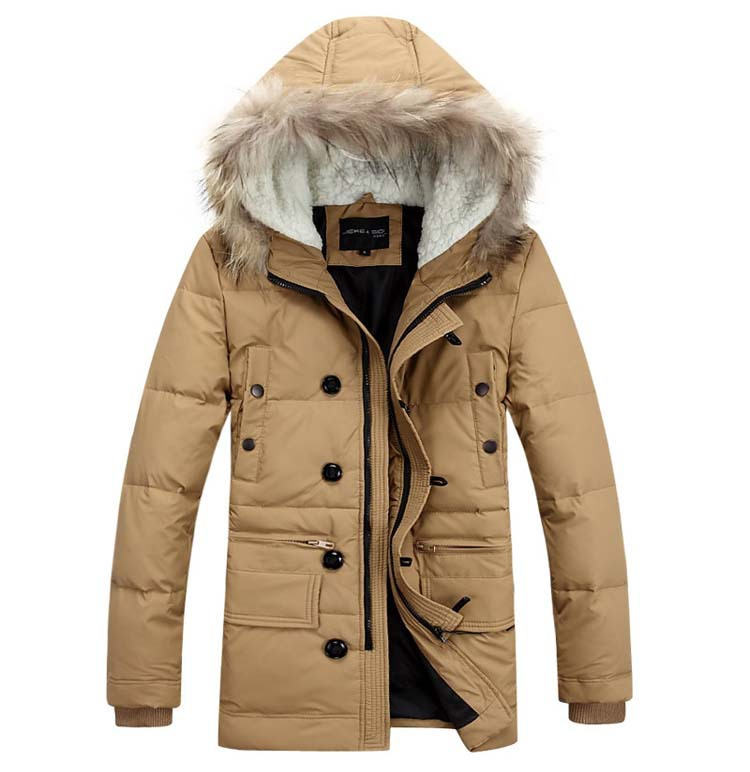 2014 High Quality Men Down Coat Fahion Hooded Padded Clothes Leisure Thicken Men s Jacket Winter