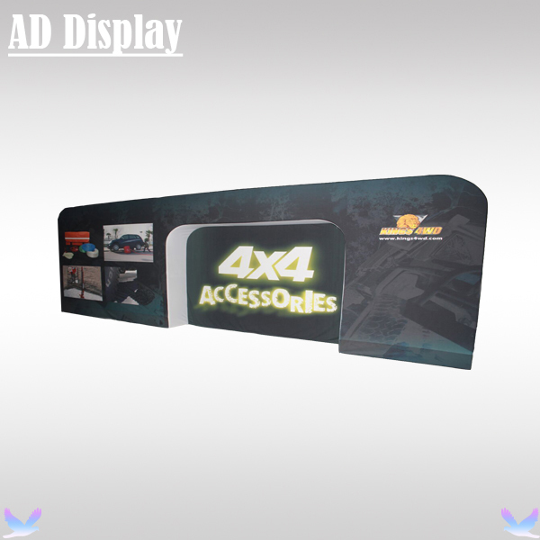 20ft*8ft Tradeshow Display High Quality Concave Stretch Fabric Backdrop,Tension Fabric Advertising Banner Exhibition Back Wall(China (Mainland))