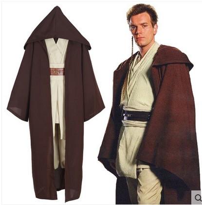 Big Fish- High Quality Star Wars Jedi Knight Cape windbreaker cloak cosplay costume 2015 new style for halloween(China (Mainland))