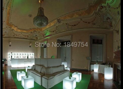pcs / lot unbreakable 30CM LED Stool square cube luminous Led Furniture LED for home / bar / cafe house outdoor decorative(China (Mainland))