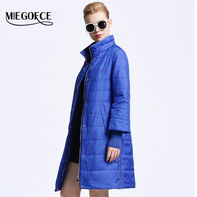 MIEGOFCE 2016 New spring jacket women winter coat womens clothing Medium-Long Cotton Padded slim warm Jacket coat High Quality(China (Mainland))