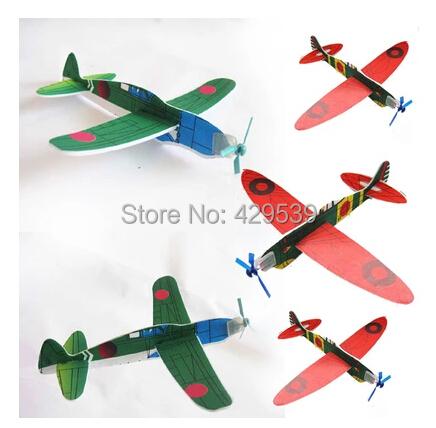 DIY educational toys \ assembling model aircraft aircraft \ hand thrown glider small aircraft 10pcs/lot free shipping(China (Mainland))