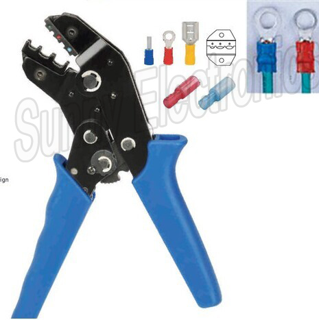 RATCHET CRIMPING TOOL PLIER FOR INSULATED TERMINALS - BULLETS BUTT RING CRIMP(China (Mainland))