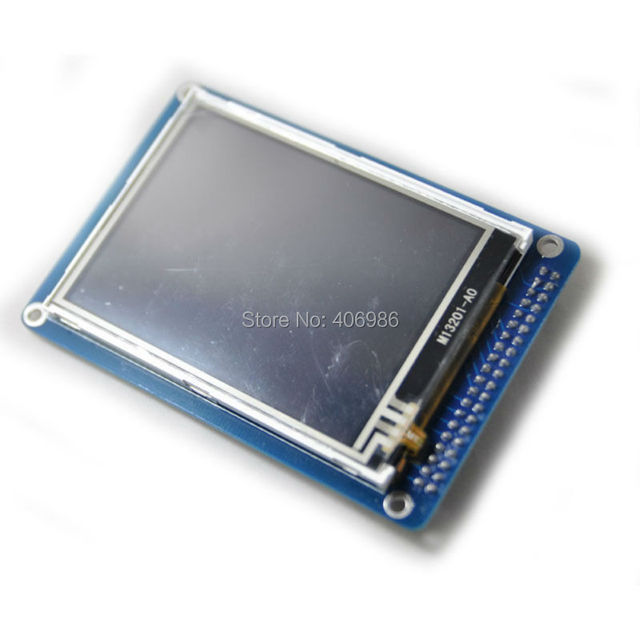 "3.2"" TFT LCD Module Display with  Touch Screen Panel with   PCB Adapter Blue ILI9341 with SD Card Slot  for Arduino Uno"