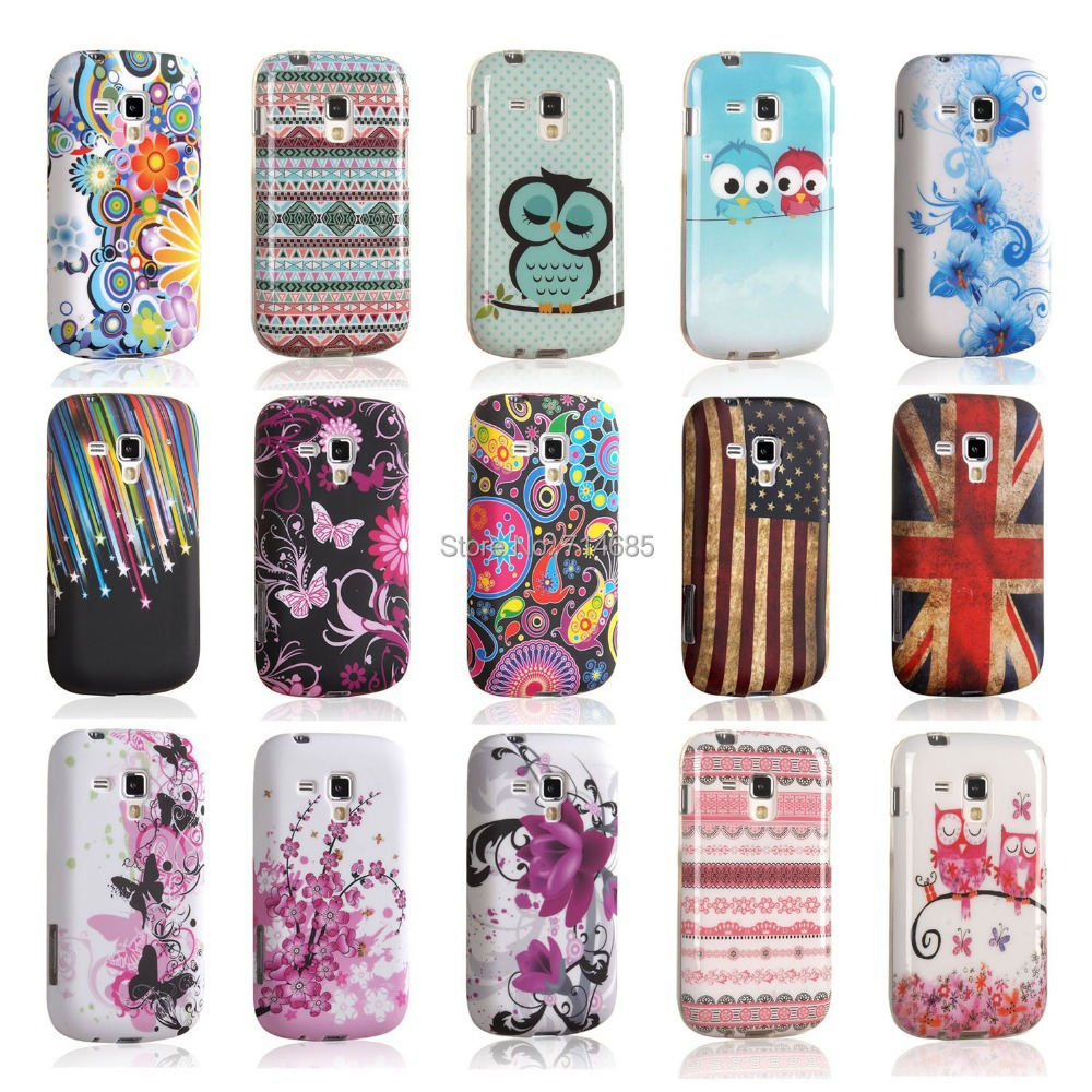 IMD TPU Gel Phone Shell for Samsung Galaxy S Duos 2 Trend Plus Dual SIM La Fleur S7582 S7580 S7562 S7560 GT-S7560M Case Cover(China (Mainland))