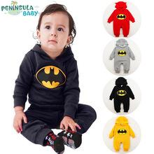 2015 Winter Baby Boy Girl Clothing Newborn baby Batman clothes Romper roupas de bebe recem nascido menina menino(China (Mainland))