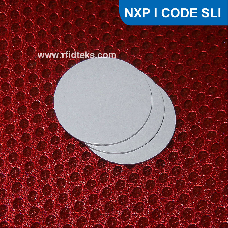 Dia 15mm RFID Tag I CODE SLI 13.56MHz ISO15693, RFID Coin Tag for asset management NFC Tag N-X-P I CODE SLI / I CODE 2 Chip(China (Mainland))