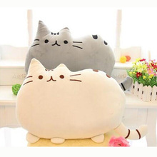2015 New cat sleeping pillow with Zipper only skin without PP cotton biscuits big cushion pusheen pillows not filler for kids