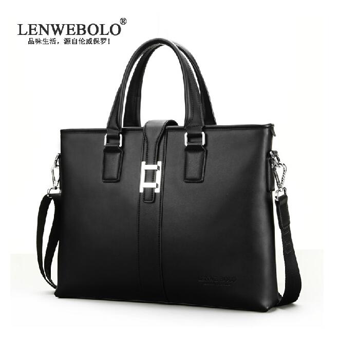 2015 New Famous brand Genuine Leather Business Handbag Mens Briefcase bag Fashion Men Messenger Bag, Free Shipping<br><br>Aliexpress
