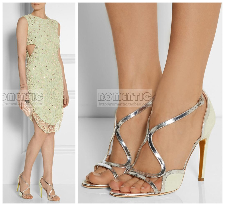 Strappy summer style Sandals patchwork Sexy Peep Toe High Heels Sexy Hollow Out Women Pumps Shoes Woman design Zapatos Mujer