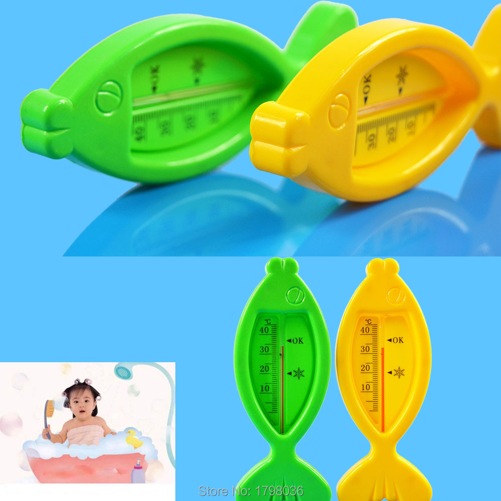 Bath water thermometer Floating Lovely Fish Baby Plastic Float Toy Tub Sensor Temperature Meter(China (Mainland))