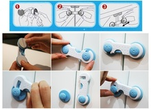 6pcs lot Blue Pink Child Kid Baby Safety Protection Multifunctional Safe Security Drawer Cabinet Fridge Door