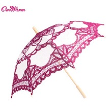 Vintage Style Handmade Embroidered Cotton Lace Parasol Sun Umbrella Wedding Bridal Party Decoration Supplies Hot Sale Multicolor(China (Mainland))