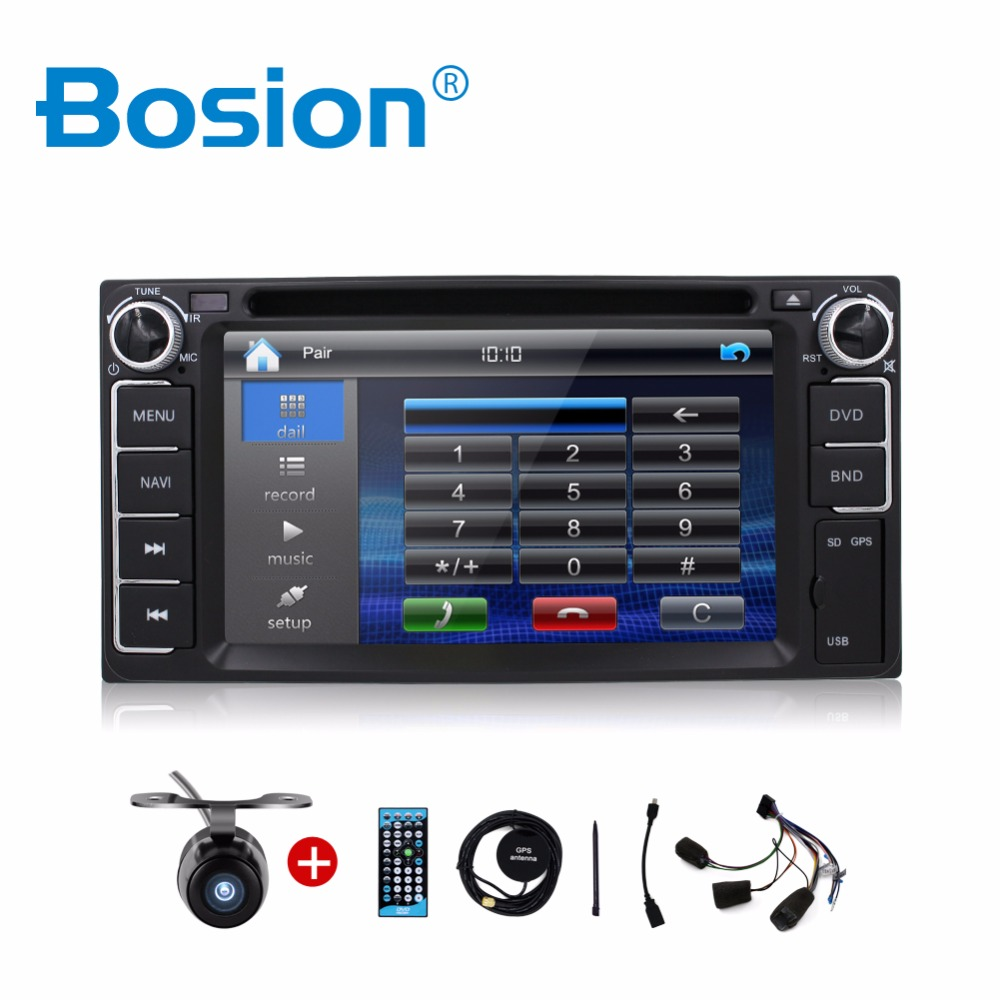 Car Electronic auto 2din car dvd player toyota GPS Radio Tuner PC Video Monitors for universal RDS Blutooth digital tv (option)(China (Mainland))