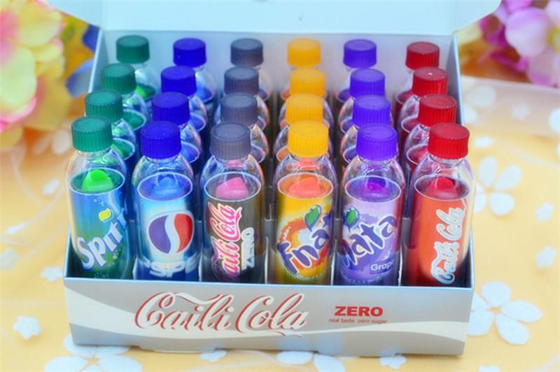6pcs Makeup Change Color Cola sweet cute Moisturizer Faint scent Lip Balm  Lipstick Brand Makeup