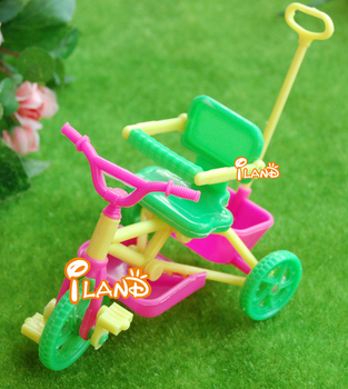 """iland 1:12 Dollhouse Miniature Vehicle Plastic colorful Child's Tricycle 5""""X3"""" HE001B Free Shipping Classic toys"""