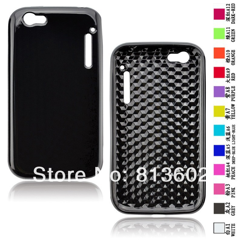Free shipping DHL ,For Alcatel One Touch OT-995 Latest Diamond Style Soft Gel TPU Resin Skin Back Cover Case,500pcs/lot(China (Mainland))