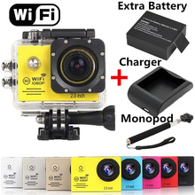 2.0inch 30M Waterproof SJ7000 Wifi Sports Digital Action Camera 1080P Full HD Sport Extreme Cameras DV 2xBattery+Monopod+Charger