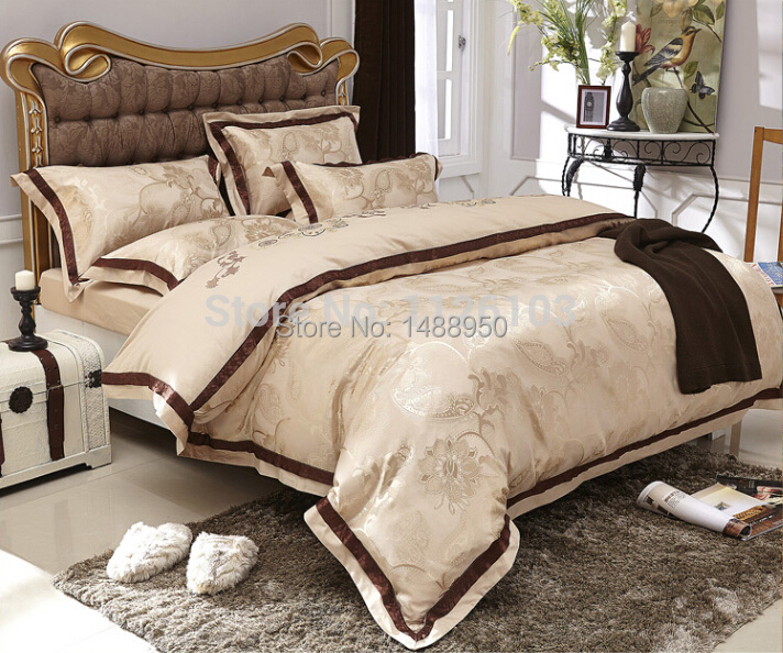 MFH Luxury bedding sets Modern designer bed in a bag linen Christmas lace duvet covers king size bedclothes cotton sheets 4pcs.(China (Mainland))