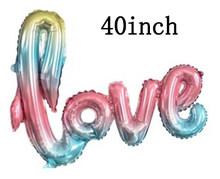 1 Pcs Ukuran Besar Aku Mencintaimu Aluminium Foil Balon Dekorasi Pernikahan Balon Ulang Tahun Pernikahan Valentine 'S Day (Hari Valentine) Pacaran Balon(China)