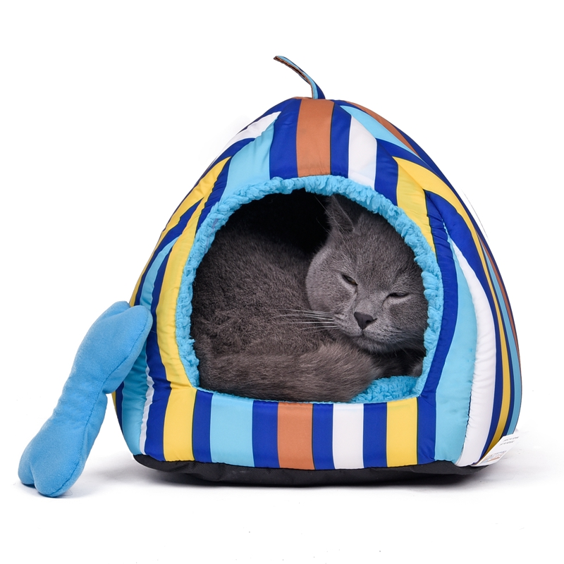 Australia Local Delivery Dog Cat Bed Pet House Warm Soft Striped Pattern Lovely Sweet For Puppy Teddy Fast Shipping Red Blue(China (Mainland))