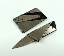 1pcs Steel metal handle credit card knife folding safety knife outdoor pocket wallet tool(China (Mainland))