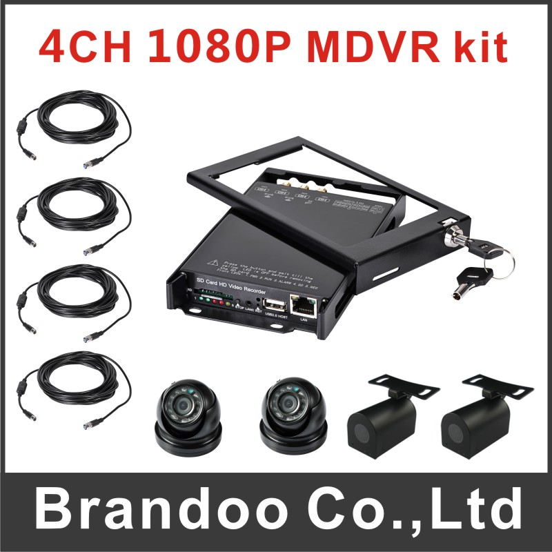 4ch 1080P mobile DVR kit, with 4pcs inside HD camera and 4pcs video cables.(China (Mainland))