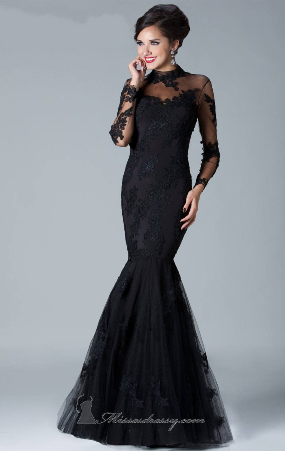 Black Lace Plus Size Wedding Dresses | Dress images