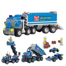 Christmas gift Enlighten Child educational toys Dumper Truck DIY toys building block sets Compatible with Children toys(China (Mainland))